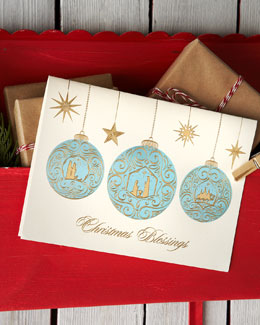 Carlson Craft Christmas Blessings Personalized Holiday Greeting Cards