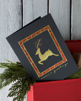 Carlson Craft Elegant Deer Personalized Holiday Greeting Cards