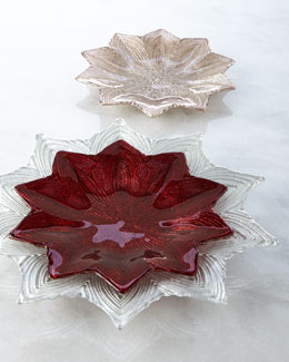 Shiraleah Home Fashion Accessories Poinsettia Plates