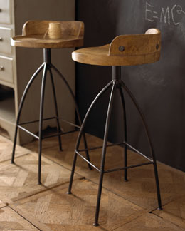 Wood Swivel Stools