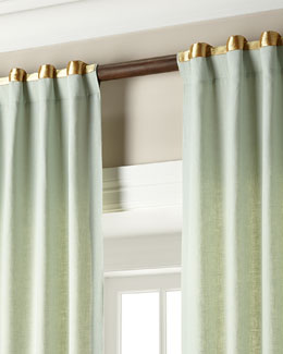 Home Silks, Inc. Hudson Metallic-Band Curtains