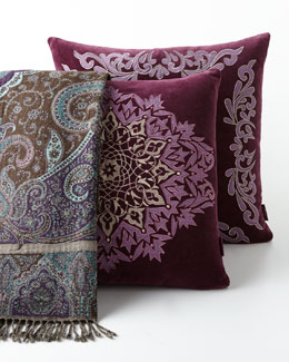Sabira Plum Pillows & Throw