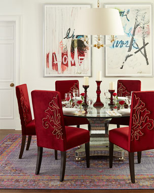 Haute House Miguel Dining Chairs & Erlinda Dining Table