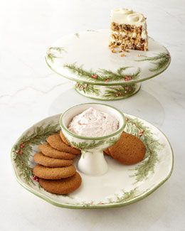 ONE HUNDRED 80 DEGREES Juniper Cake Stand & Chip and Dip