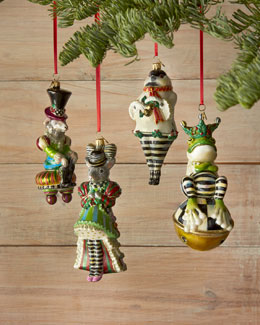 MacKenzie-Childs Chicken Palace Ball Christmas Ornaments