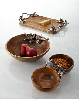Acorn Serving Bowls and Serving Board