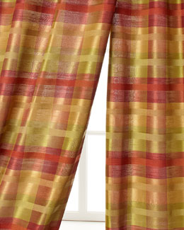 Home Silks, Inc. Peyton Plaid Curtains