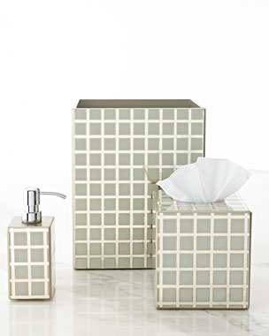Waylande Gregory Ivory Grid Vanity Accessories