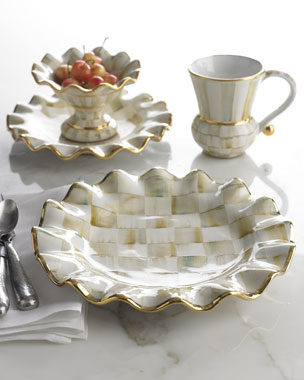MacKenzie-Childs Parchment Check Dinnerware