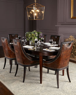 Old Hickory Tannery Allerton Dining Table & Cinda Leather Dining Chair