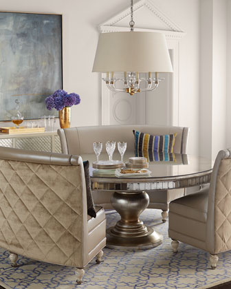 Patrice Banquette & Lisandra Round Dining Table