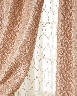 Isabella Collection by Kathy Fielder Harlowe Puckered Damask Curtains