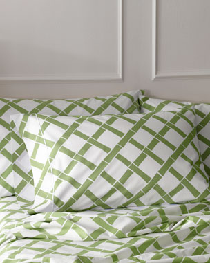 Matouk Madison Bamboo-Lattice 300TC Sheets