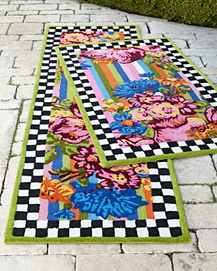 MacKenzie-Childs Flower Market Outdoor Rug