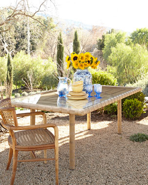 Rafter Outdoor Dining Table & Marco Outdoor Chair