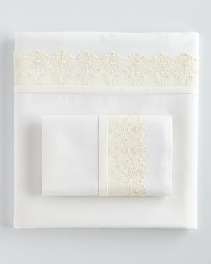 Fino Lino Linen & Lace Carlyle Lace 420TC Sheet Sets