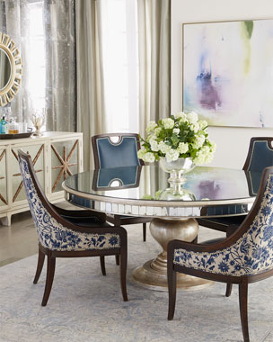 John-Richard Collection Kingsley Dining Chair & Lisandra Round Dining Table
