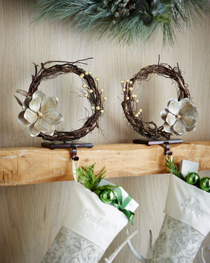 Janice Minor Vine Christmas Stocking Holders