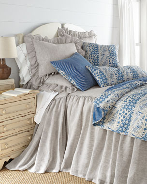 Pine Cone Hill Savannah Bedding & Cana Blue Accessories