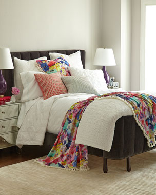 Amity Home White Asher & Gianna Bedding with Floral Accessories