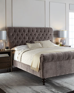 Lourdes Tufted Bed