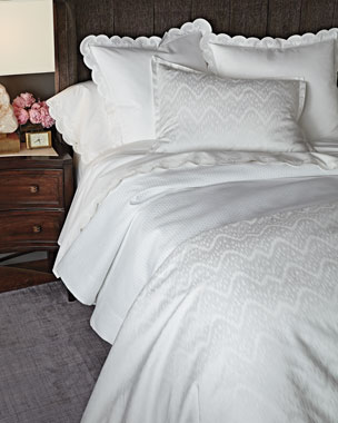 AERIN 500TC Scallop-Applique Bedding