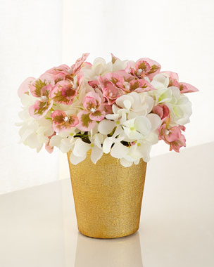 Blushing Beauty Hydrangea Faux-Floral Arrangements