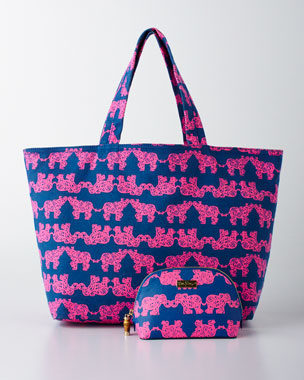 Lilly Pulitzer Pack Your Trunk Cosmetic Case & Beach Tote