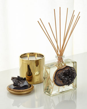 Smoky Quartz and Agate Diffuser & Candle