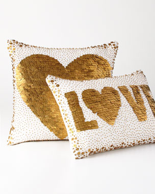 Jonathan Adler White Love & Heart Pillows
