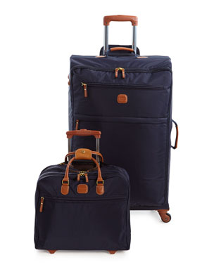 BRICS Navy X-Bag Spinner & Rolling Pilot Case