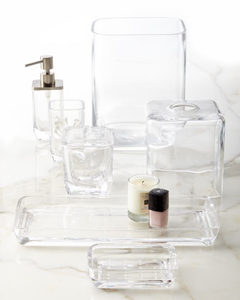 Vanity accessories bathroom vanities at horchow for Clear glass bathroom accessories