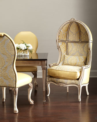 Devine Leather Side Chair & Balloon Chair