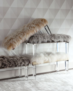 Massoud Alala Sheepskin Bench