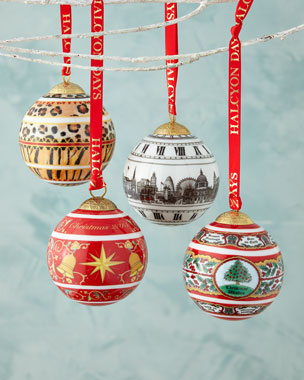 Halcyon Days Enamels Christmas Ornaments