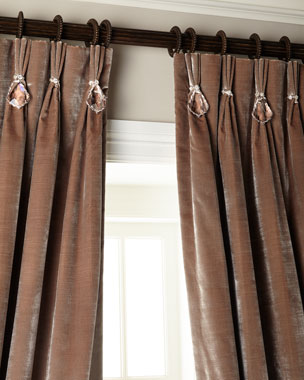 6009 Parker Velvet Curtains with Asfour Crystals