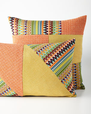 Eastern Accents Orange Patch Pillows