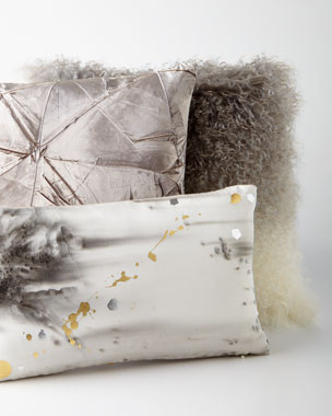 Aviva Stanoff Silver-Gray Pillows