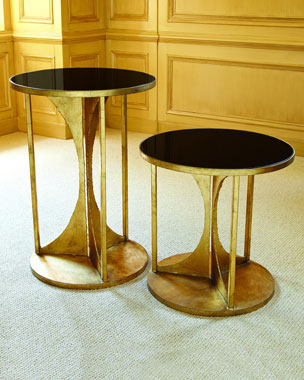 Global Views Hourglass Side Tables