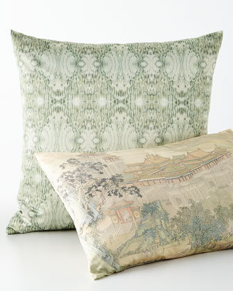 Along the Riverbank & Mint Persuasion Pillows