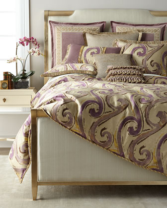 Wisteria Scroll Queen Duvet and Matching Items