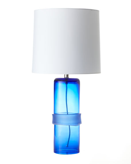 """Topher"" Cobalt Band Table Lamp"