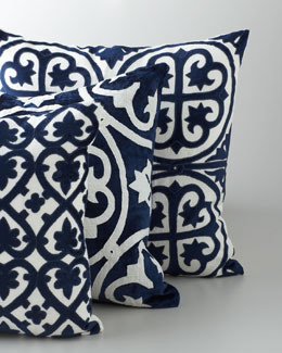 "Navy & White ""Venice"" Collection Pillows"