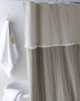 "French Laundry Home ""French Stripe"" Shower Curtain"