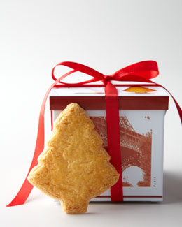French Tin with Tree-Shaped Shortbread Cookies