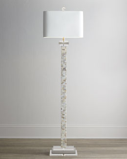Mother-of-Pearl Floor Lamp