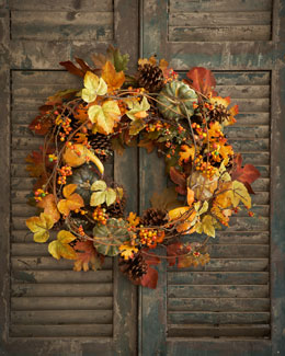 "Park Hill Collections Bountiful Harvest 34"" Wreath"
