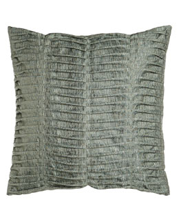 "Sweet Dreams Glamour Pillow with Pleats, 22""Sq."