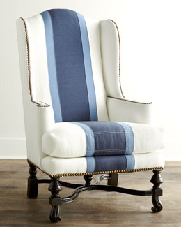 Massoud Colorblock Wing Chair