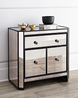Powell Mirrored Side Table